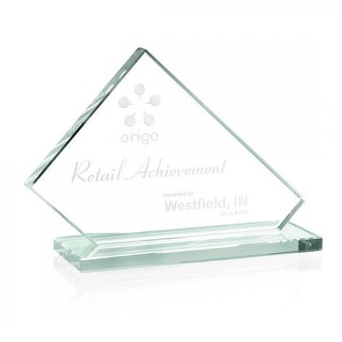 Bracknell Jade Glass Cut Rectangle Award