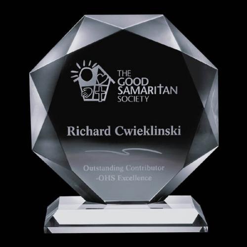 Bradford Jade Glass Octagon Award