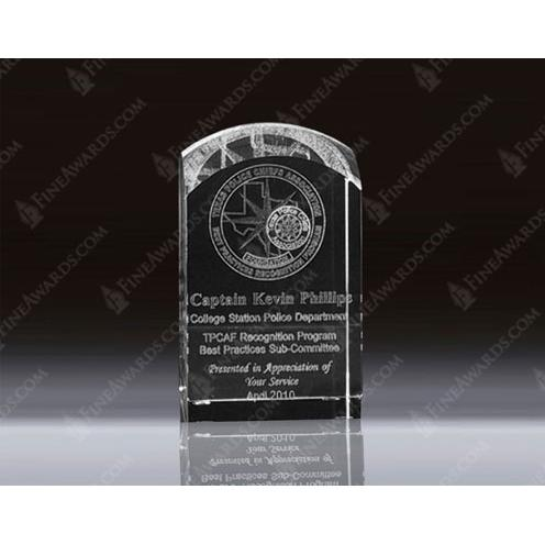 Clear Optical Crystal 3D Dome Top Plaque