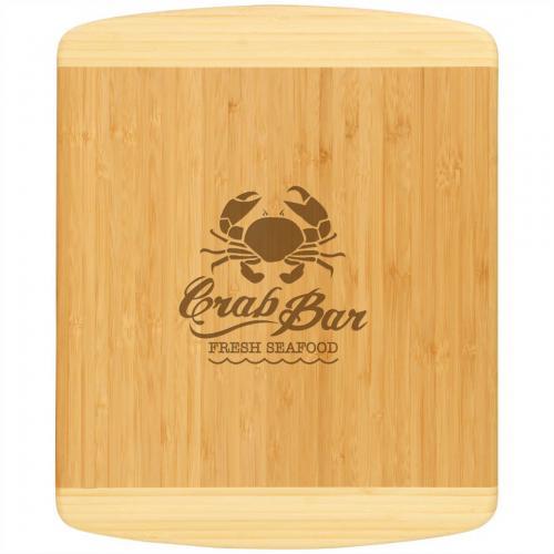 2-Tone Brown Bamboo Rectangle Cutting Board