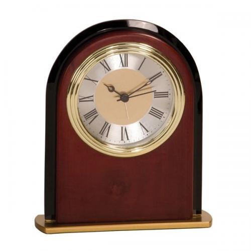 Red Mahogany Finish Arch Clock Award