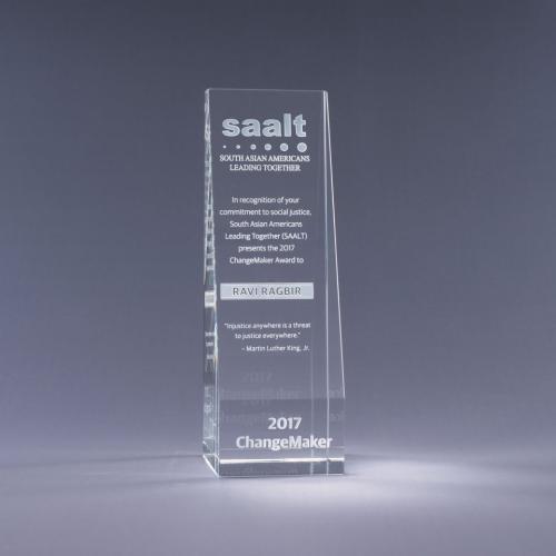 Clear Optical Crystal Echelon Award