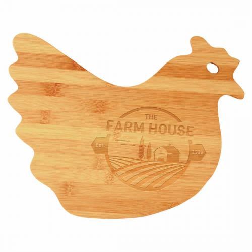 Chicken Shaped Bamboo Cutting Board