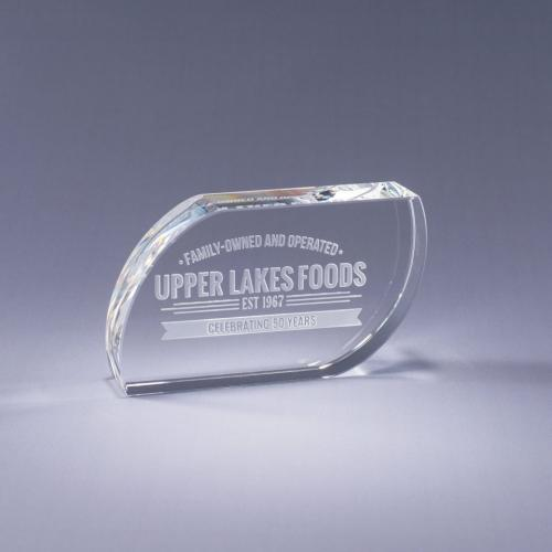 Clear Optical Crystal Leaf Paperweight