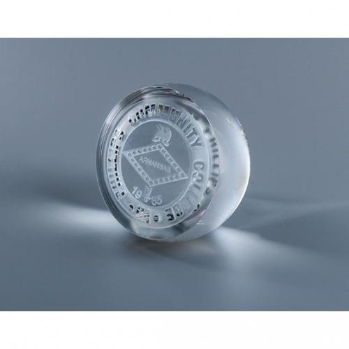 Clear Optical Crystal Orbit Paperweight