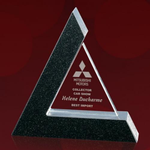 Benson Crystal Triangle Award in Starfire Frame