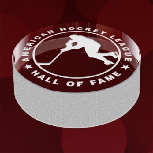 Hockey Puck Crystal & Jade Award