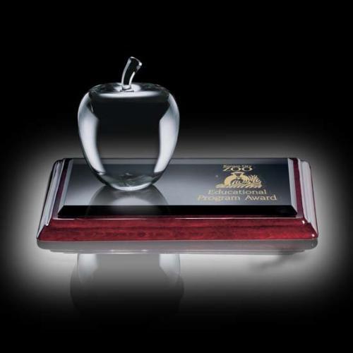 Clear Optical Crystal Argyle Award on Albion Base