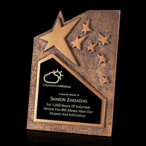 Ruddington Silver Cast Metal Star Award
