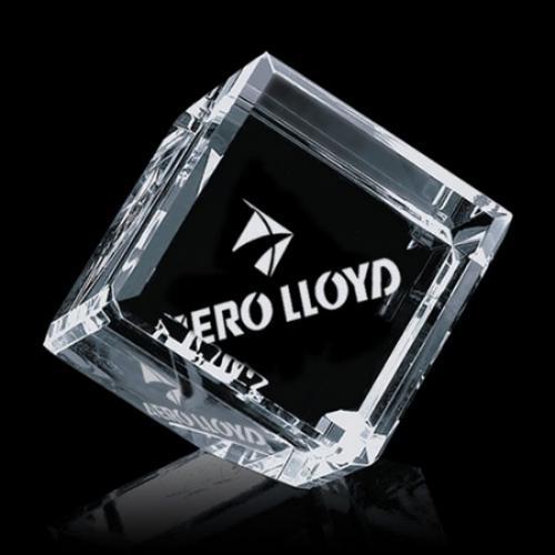 Clear Optical Crystal Carlton Cube