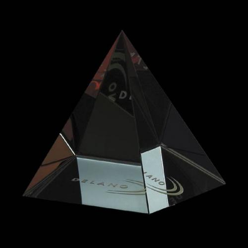 Colored Optical Crystal Pyramid