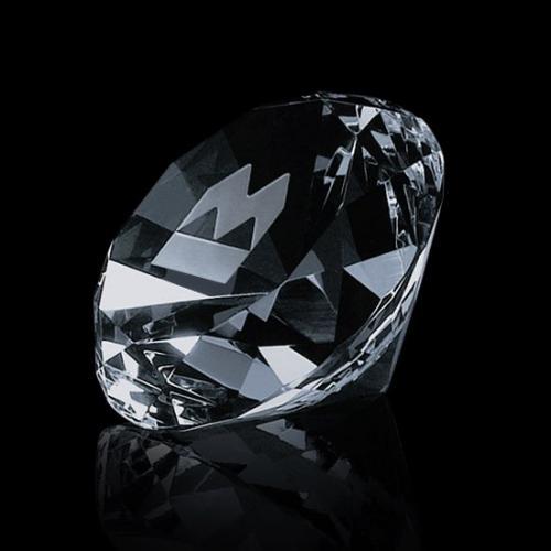 Clear Optical Crystal Diamond Shaped Desk Award