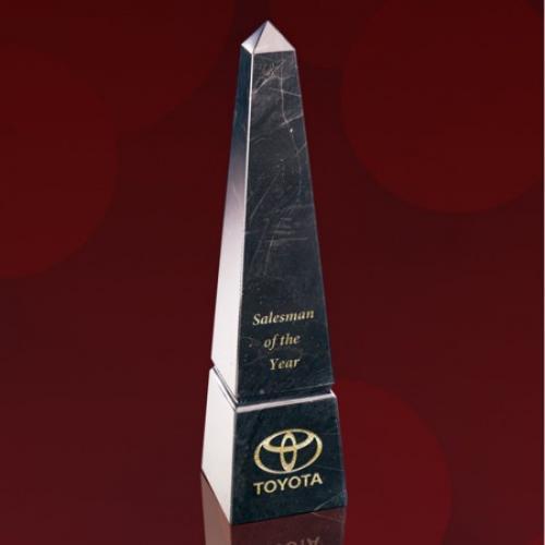 Black Marble Groove Obelisk Award