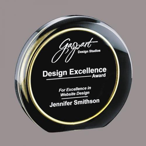 Black Acrylic Burnaby Circle Award