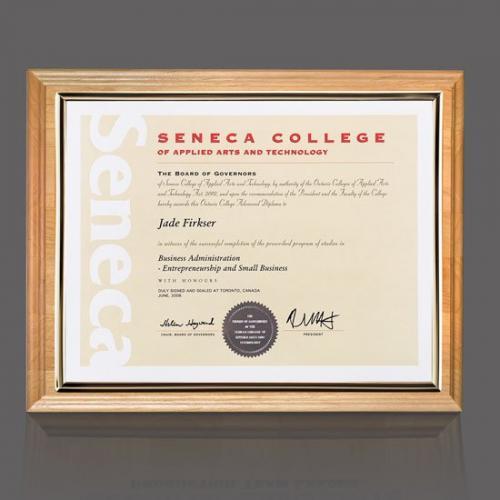 Erindale Red Alder Wood Certificate Holder