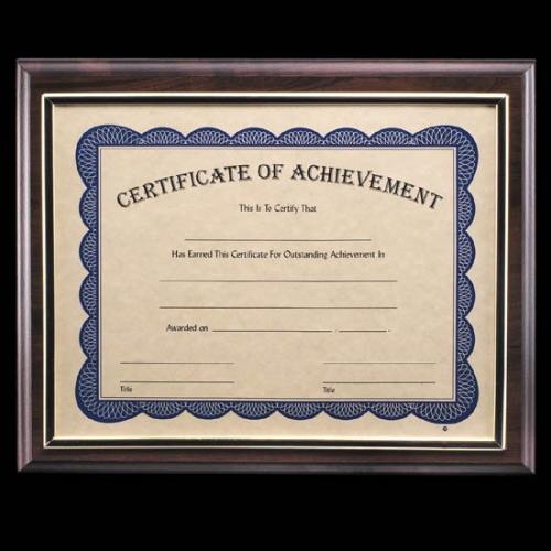 Farnsworth Black Laminate & Silver Certificate Holder