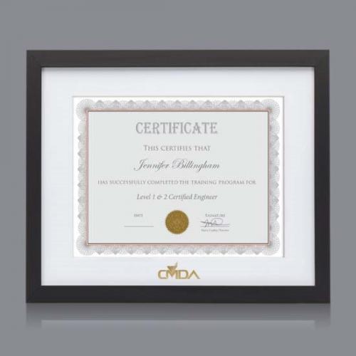 Aberdeen American Walnut Certificate Frame