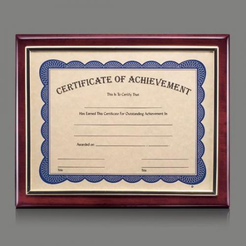 Oakleigh Piano Finish Rosewood Certificate Frame in Silver Frame