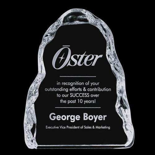 Clear Optical Crystal Carling Iceberg Award