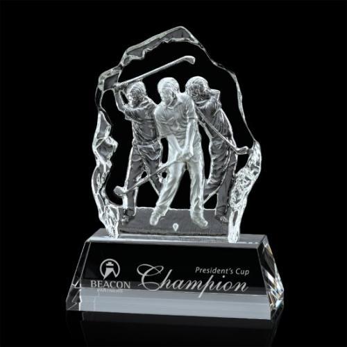 Fergus Optical Crystal Iceberg Golf Award