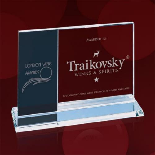 Grey & Clear Starfire Horizontal Composite Award