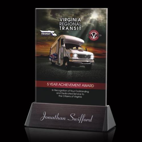 Sierra VividPrint Multi Color Crystal Rectangle Award