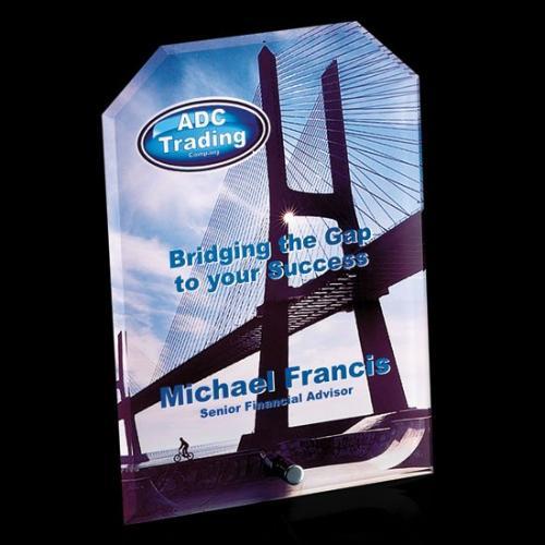Cantebury VividPrint Crystal Clipped Rectangle Award