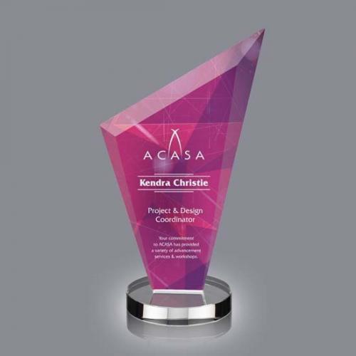 Condor VividPrint Crystal Triangle Award on Clear Base