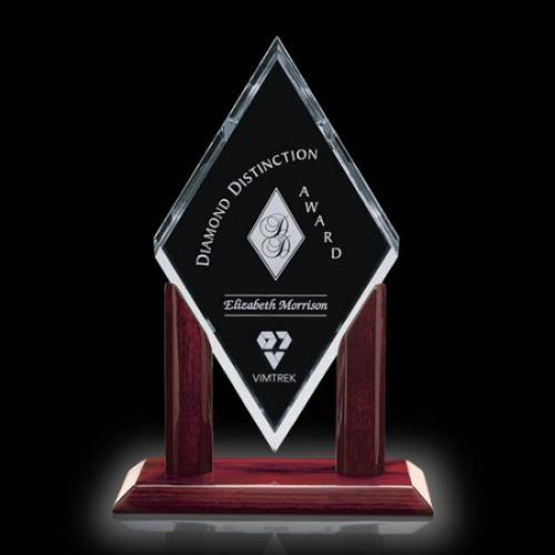 Mayfair Stairfire Diamond Award with Rosewood Base