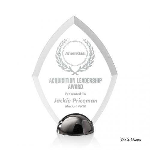 Diamond Hemisphere Award - Laser Engraved