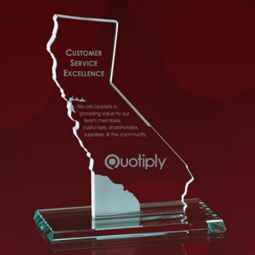State of California Jade Glass Award