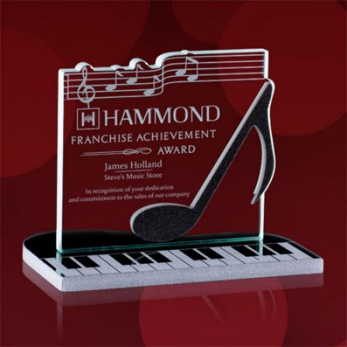 Sheet Music Starfire & Grey Glass Award