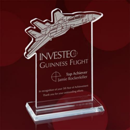 Jet Fighter Jade Glass Award