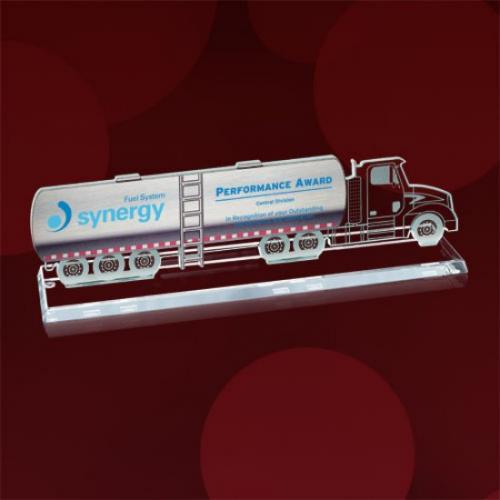 Tanker Truck Jade Glass Award