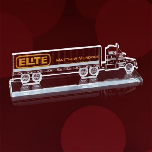 Transport Truck Jade Glass Award