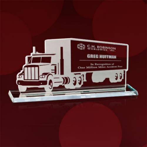Moving Truck Jade Glass Award