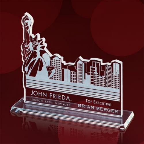 New York Skyline Jade Glass Award
