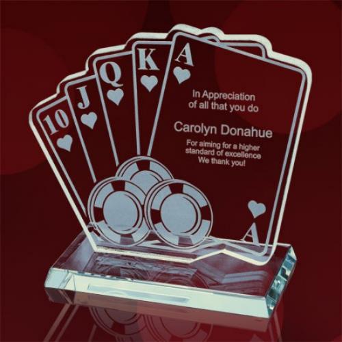 Royal Flush Jade Glass Award