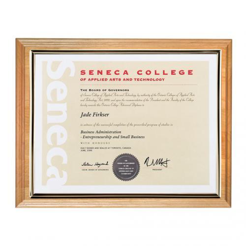 Bamboo Certificate Holder