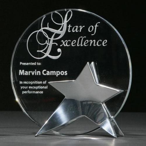 Beacon Crystal Circle Award with Double Star