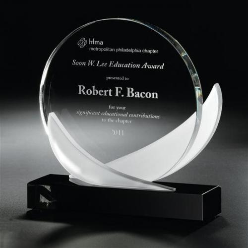 Ebony & Frost Optical Crystal & Starfire Glass Award