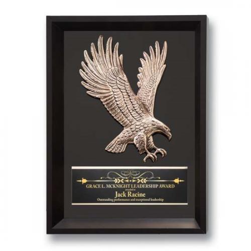 Black Cast Metal Framed Eagle Plaque