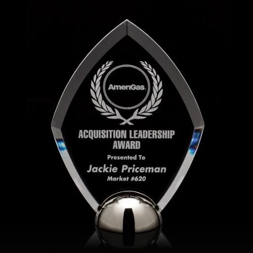 Acrylic Diamond Hemisphere Award