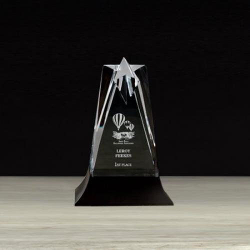Acrylic Star Tower Award with Stonecast Base