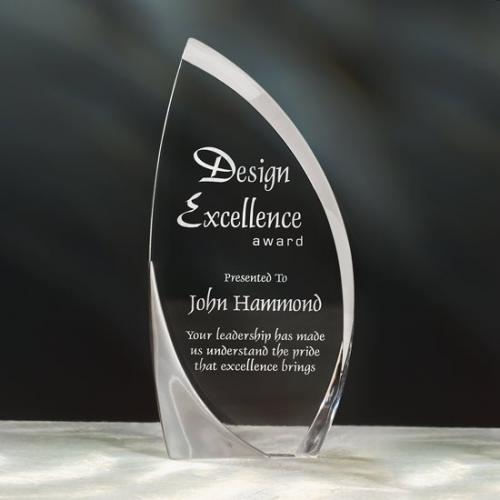 Clear Acrylic Zephyr Sail Award