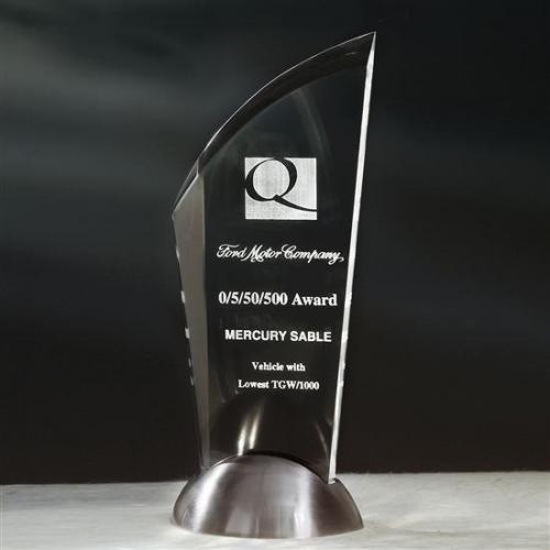 Stylus Acrylic Award on Metal Base
