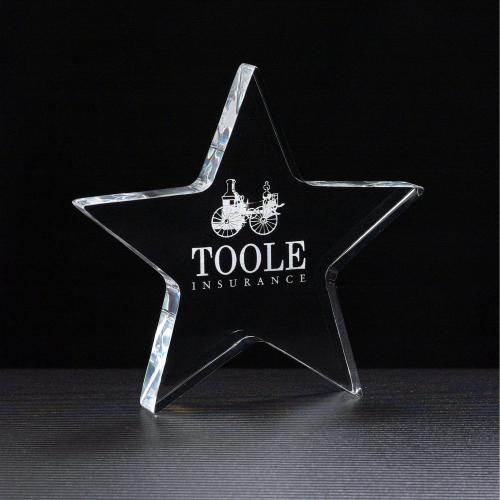 Clear Acrylic Star Paper Weight