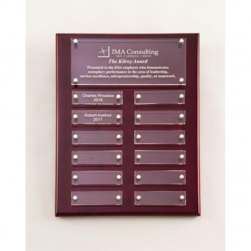 Rosewood High Gloss Plaque with Acrylic Plates