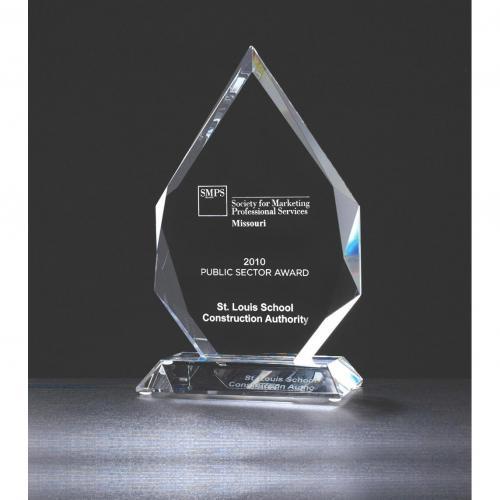 Clear Optical Crystal Diamond Awards