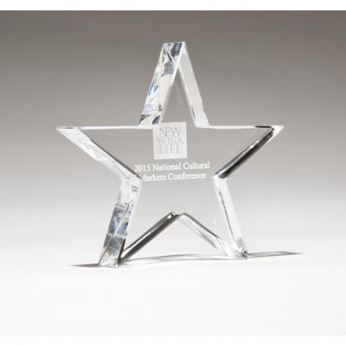 Clear Optical Crystal Star Paperweight